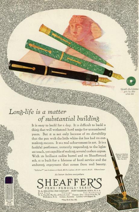 Scheaffer's pen ad-small